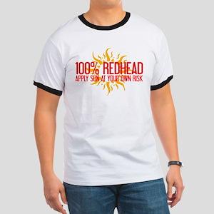 100% Redhead - Apply Sun Risk Ringer T