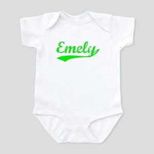 Vintage Emely (Green) Infant Bodysuit