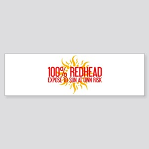 100% Redhead - Expose to Sun Bumper Sticker