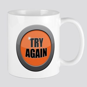 Try Again Dark Metal Icon Mugs
