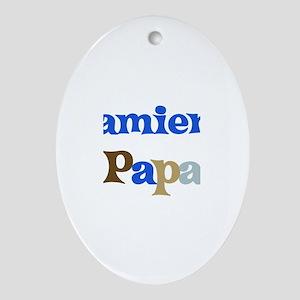 Damien's Papa Oval Ornament