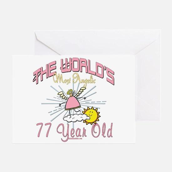 Angelic At 77 Greeting Card