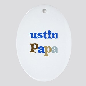 Dustin's Papa Oval Ornament