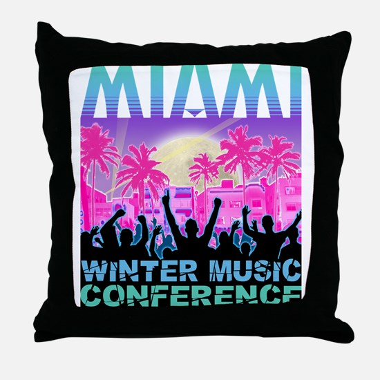 Winter Music Conference Throw Pillow