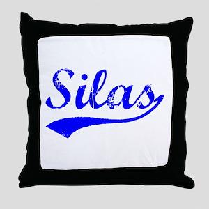 Vintage Silas (Blue) Throw Pillow