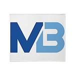 Murieta Bulldogs Logo Throw Blanket