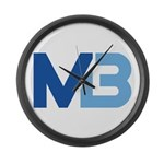 Murieta Bulldogs Logo Large Wall Clock