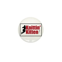 Knittin Kitten - Sexy Knitting Retro Mini Button (