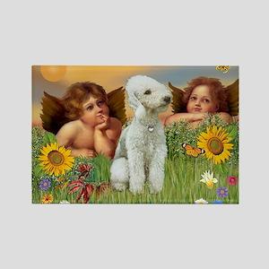 Cherubs / Bedlington Terrier Rectangle Magnet