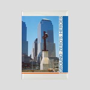 10 pak WTC MAGNET remember ground zero's heroes