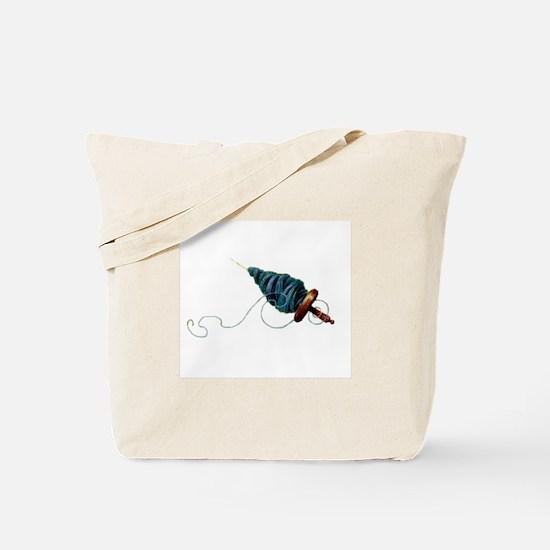 Spinning - Wool Yarn Spindle Tote Bag