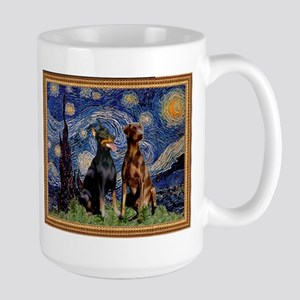 Starry Night & Dobie Pair Large Mug