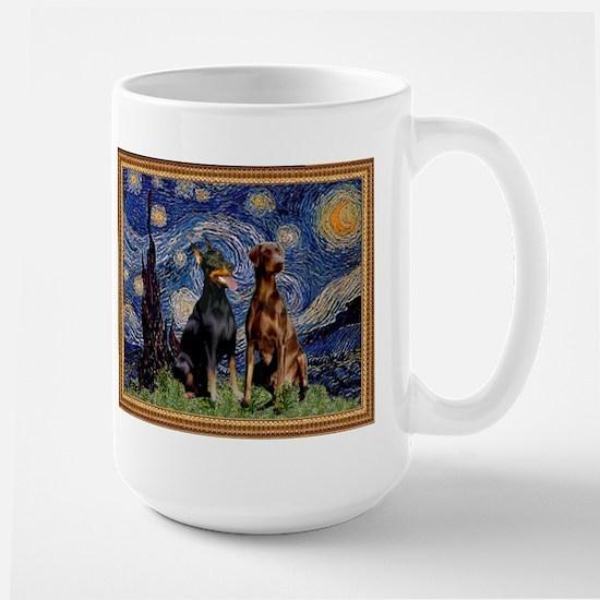 Starry Night & Dobie Pair Large Mug