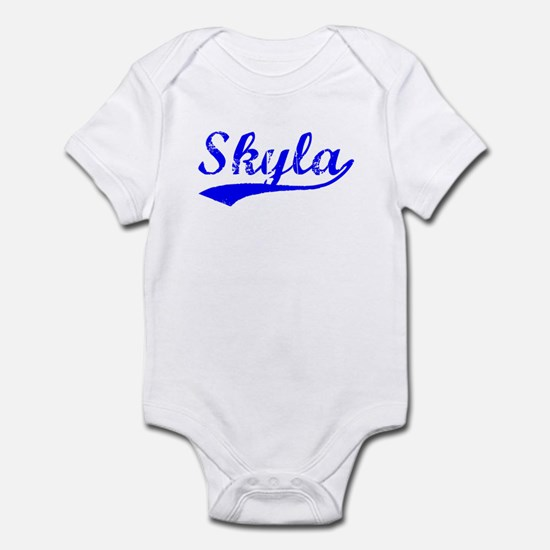 Vintage Skyla (Blue) Infant Bodysuit