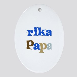 Erika's Papa Oval Ornament