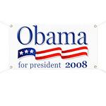 Obama for President 2008 Banner (White)