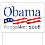 Obama For President 2008 Yard Sign (White)