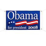 Obama for President 2008 Banner (Blue)