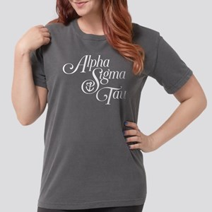 Alpha Sigma Tau Vertic Womens Comfort Colors Shirt