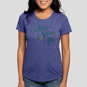Alpha Sigma Tau Vertical Womens Tri-blend T-Shirt
