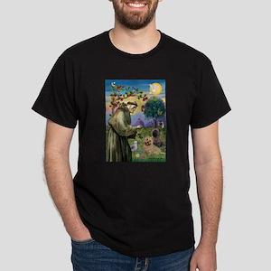 St Francis/Cairn Terrier Dark T-Shirt