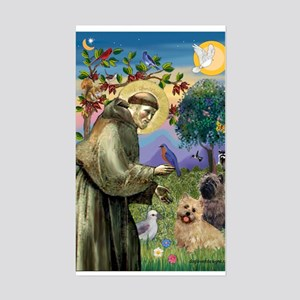 St Francis / Cairn Terrier Rectangle Sticker