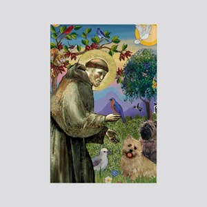 St Francis / Cairn Terrier Rectangle Magnet