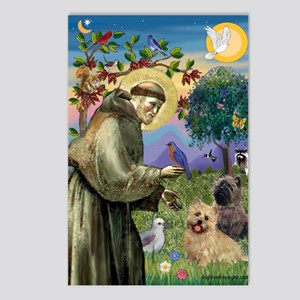 St Francis / Cairn Terrier Postcards (Package of 8