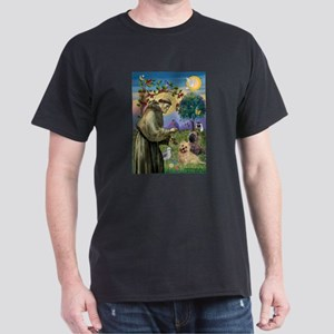St Francis / Cairn Terrier Dark T-Shirt