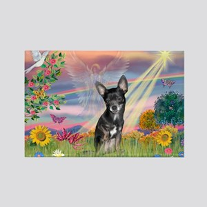Cloud ANgel / Chihuahua (Bl-T) Rectangle Magnet