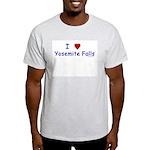 I Love Yosemite Falls Navy - Ash Grey T-Shirt