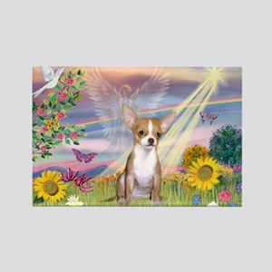Cloud Angel & Chihuahua Rectangle Magnet