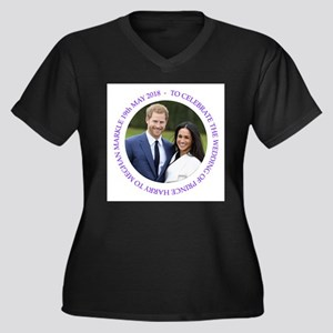 Prince Harry and Meghan Markle Plus Size T-Shirt