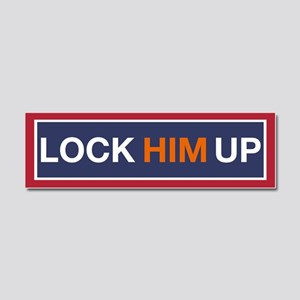 Lock Him Up! Car Magnet 10 X 3