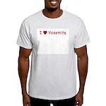 I Love Yosemite Red - Ash Grey T-Shirt