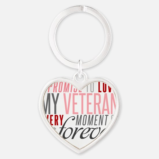I Promise to love my Veteran Keychains