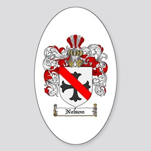 Nelson Family Crest Oval Sticker