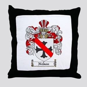 Nelson Family Crest Throw Pillow