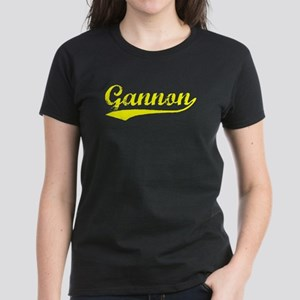Vintage Gannon (Gold) Women's Dark T-Shirt