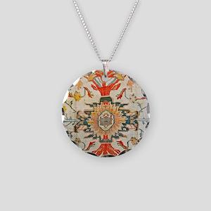 Antique Floral Persian Carpet Necklace