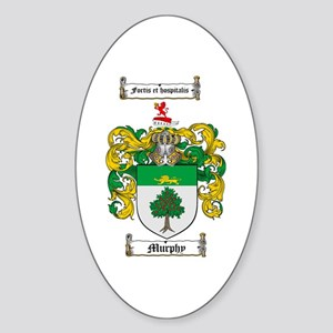 Murphy Family Crest Oval Sticker