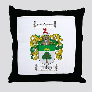 Murphy Family Crest Throw Pillow