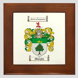 Murphy Family Crest Framed Tile