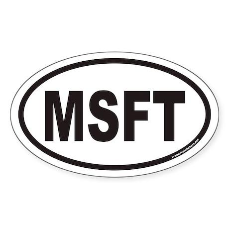 MSFT Euro Oval Sticker