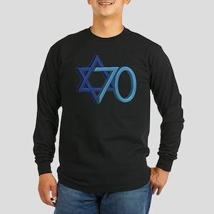 Israel Turns 70! Long Sleeve Dark T-Shirt