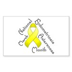 Endometriosis Month Rectangle Sticker 50 pk)