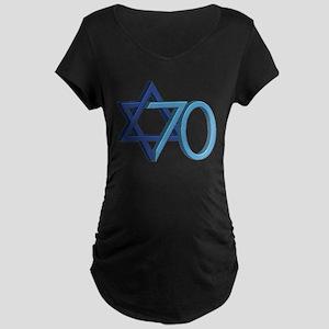 Israel Turns 70! Maternity Dark T-Shirt