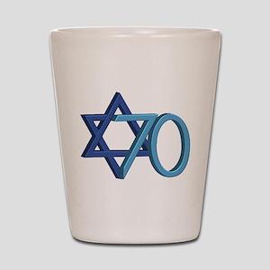 Israel Turns 70! Shot Glass