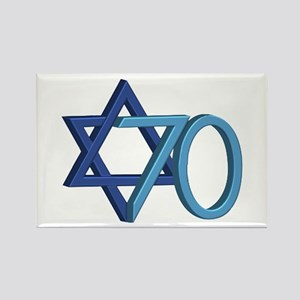 Israel Turns 70! Rectangle Magnet