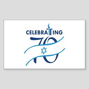 Celebrating 70! Sticker (Rectangle)